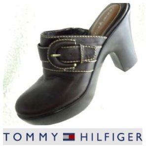 Tommy Hilfiger Millie colt Mules. Size 8 1/2